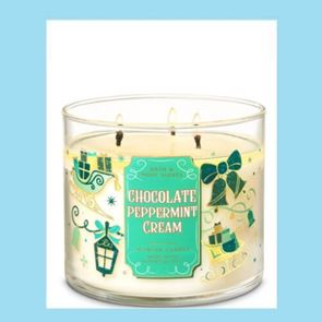 Bath & Body Works 3 Wick Candle Chocolate & Peppermint Cream 14.5oz