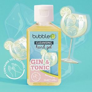 Bubble T Pocket Hand Sanitiser 70% Gin & Tonic 50ml