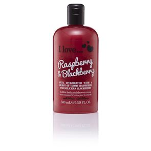 I Love...Raspberry Blackberry Bubble Bath and Shower Creme 500ml